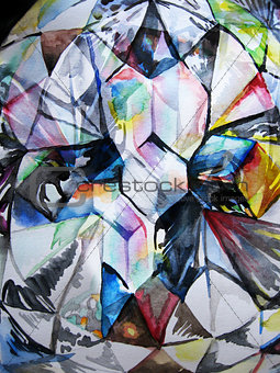 Watercolor diamond texture
