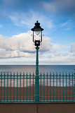 The street lamp on the Scarborough promenade