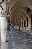 View to Doge's Palace in Venice.