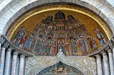mosaic at the entrance of the Cathedral of St. Mark in Venice.