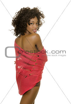 Sexy African American woman