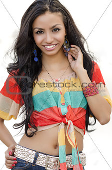 Beautiful exotic young woman