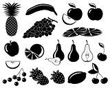 Set icons of fruit