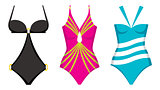 Three swimming suits