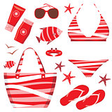 Fashionable set with a swimming suit