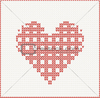 knitted seamless christmas pattern