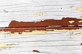 White peelin paint