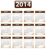 2014 Spanish calendar