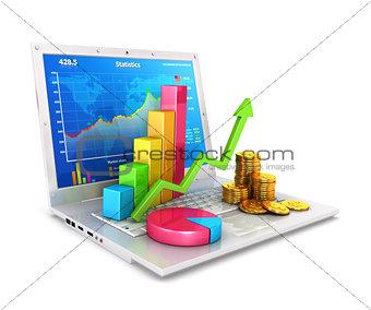 3d statistics on laptop