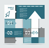 Modern Design template. Can be used for infographics. Numbered b