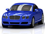 Blue powerful car concept model