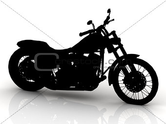 Black motorcycle conceptual model