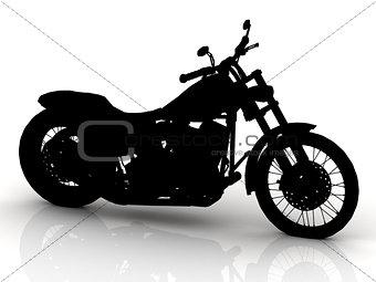 Black motorcycle conceptual model
