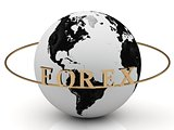 FOREX gold letters on a gold ring