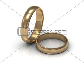 Gold ring near the ring