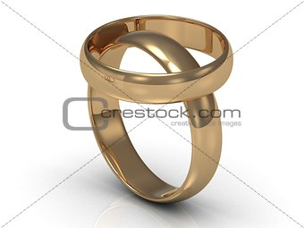 2 Gold wedding rings