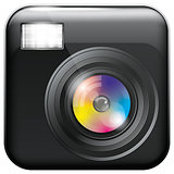 App Icon with Camera Lens and Flash Light