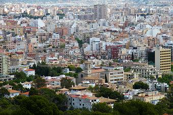 Aerial view of Palma de Mallorca in Balearic islands