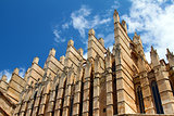 Detail of Mallorca cathedral in Palma, Spain