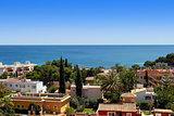 colorful overview of Palma Nova in Mallorca