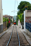 wood train of Puerto de Soller in Mallorca