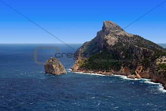 cape formentor rock in Mallorca balearic islands