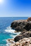turquoise rocky coast in mallorca balearic island