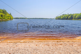 Sandy beach on Lake