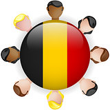 Belgium Flag Button Teamwork People Group