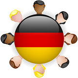 Germany Flag Button Teamwork People Group