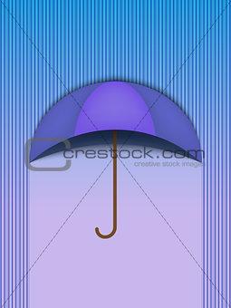 Beautiful Umbrella Protection Rain Blue - Vector