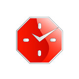 Octagon shaped wall clock business logo