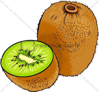 kiwi fruit cartoon illustration