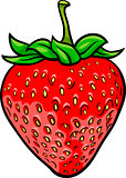 strawberry fruit cartoon illustration