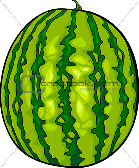 watermelon fruit cartoon illustration