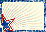 Stars and Stripes grunge background
