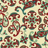 Vector seamless paisley pattern,
