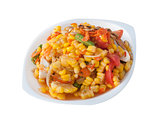 Corn salad with salted egg spicy-sour dressing