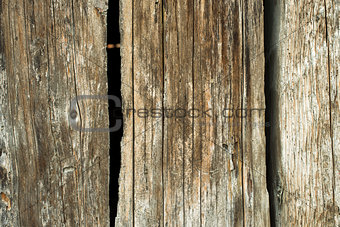 Old dark planks