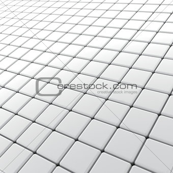 background from cubes with a light grey surface