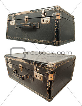 Old travel suitcase
