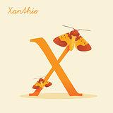 Animal alphabet with xanthie