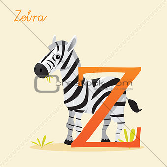 Animal alphabet with zebra