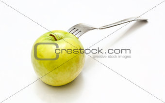 Fork in apple