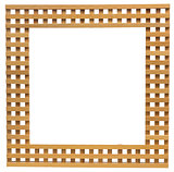 wooden lattice frame isolated