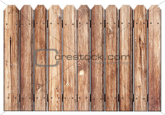 old wooden fence isolated on white