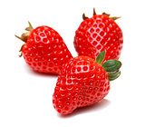 Strawberry fruit isolated on white background