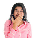 Indian woman giggles covering her mouth with hand