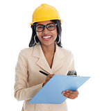 Indian female construction engineer