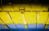 Abandoned Empty Stadium Seats in low light